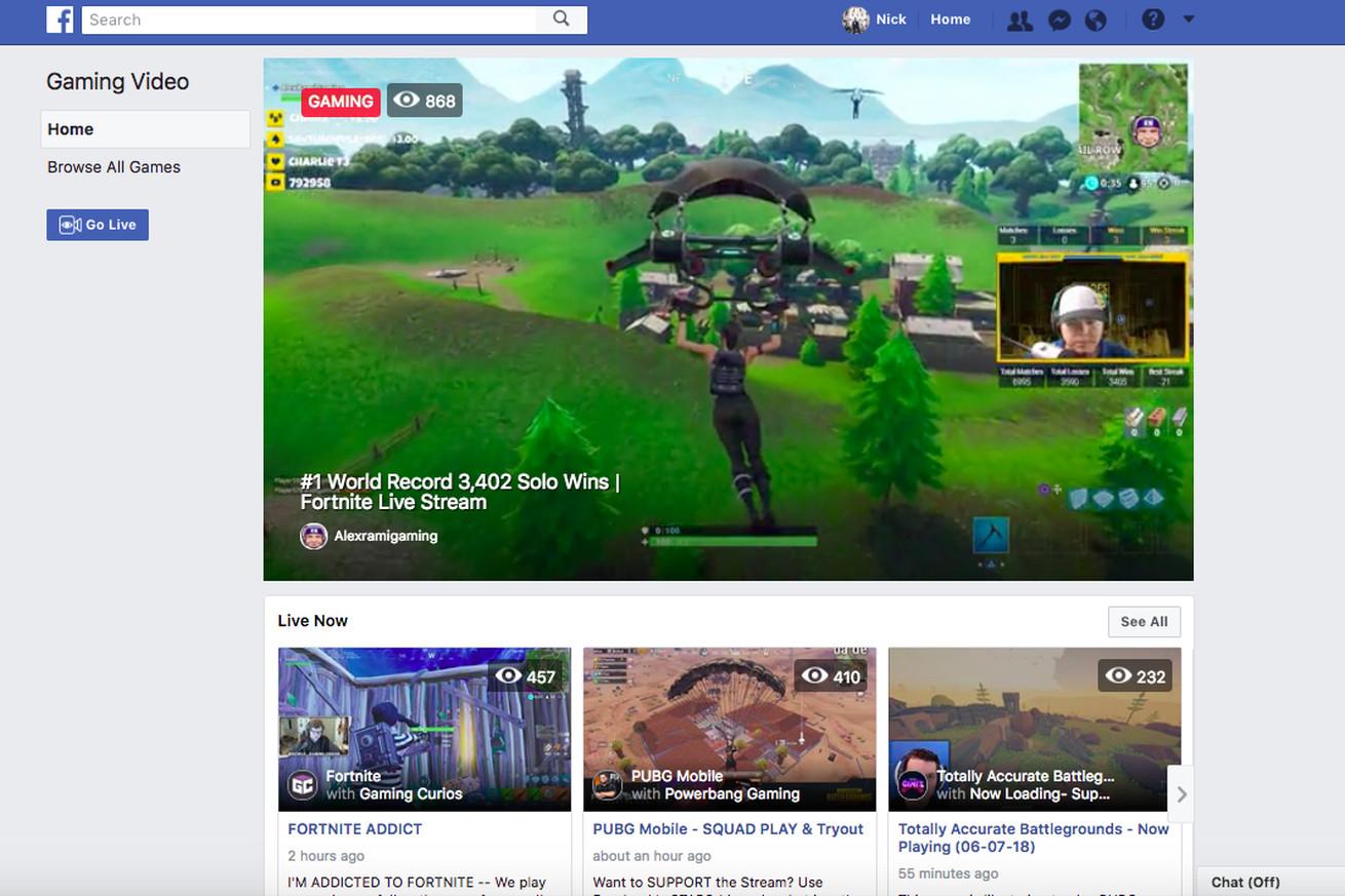 Fb.gg es el centro de transmisión de juegos de Facebook para robar Streamers Fortnite lejos de Twitch