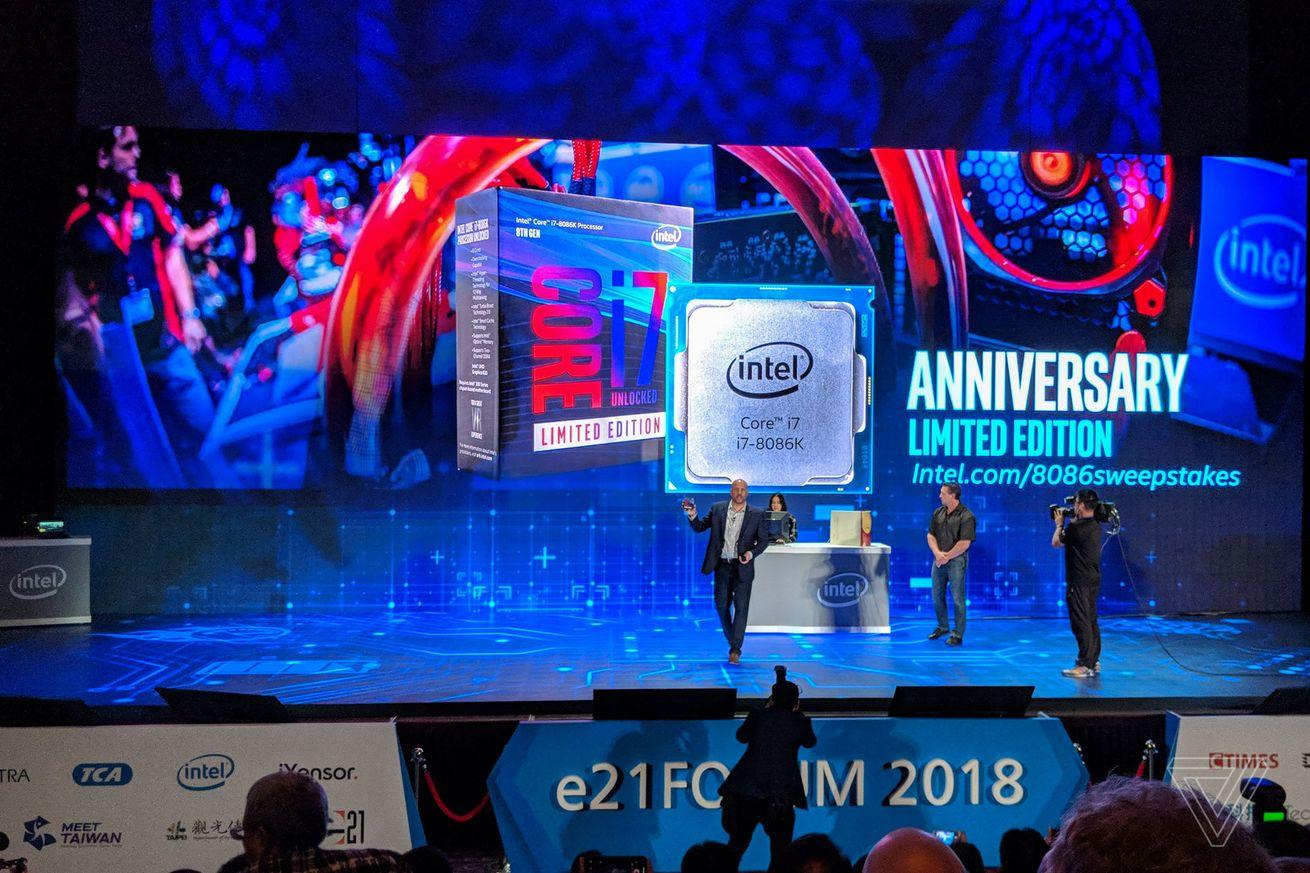 Intel anuncia CPU de aniversario de 5GHz Core i7-8086K de edición limitada