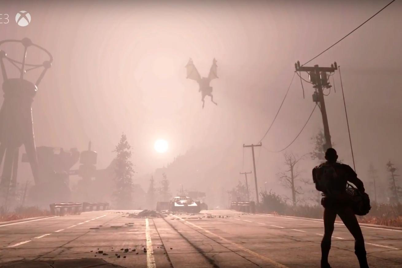 Los fanáticos de Fallout 76 están flipando sobre un monstruo volador