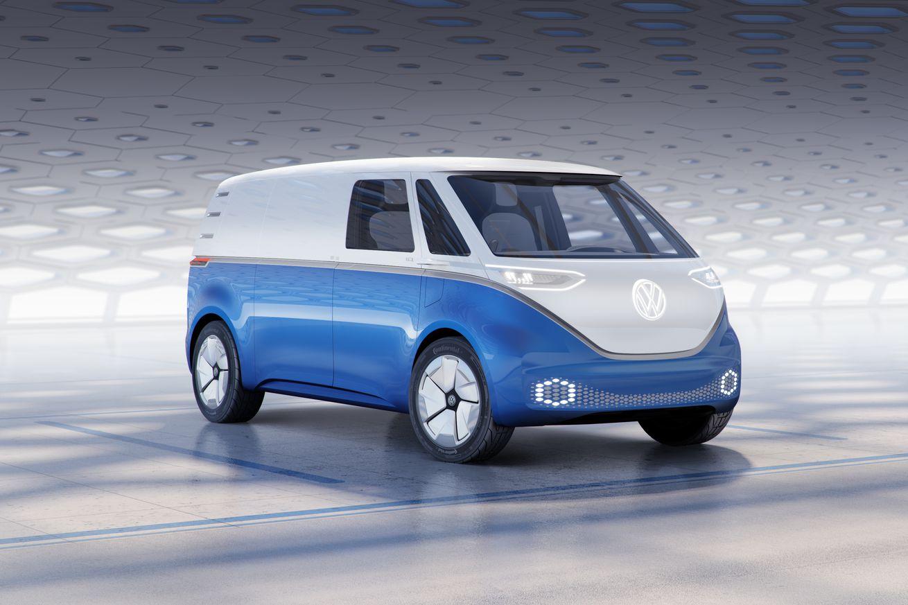 VW's I.D. Buzz Cargo es una furgoneta de reparto eléctrica con un toque de poder floral